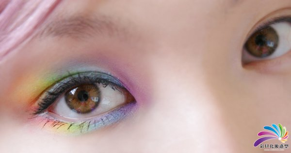 南阳化妆学校--霓虹眼妆