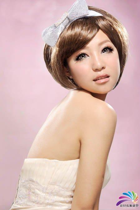 南阳化妆学校--甜美日系新娘妆